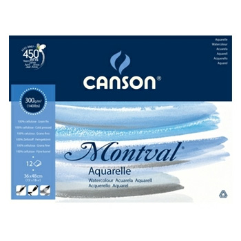 Block Stuck CANSON Montval 12 coli 297x420mm 300 gr